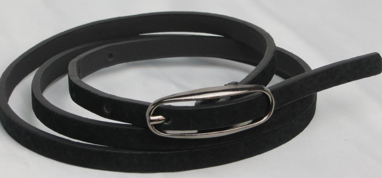 Женский узкий поясок ремень  2239 чёрный ДхШ: 102х0,9 см.