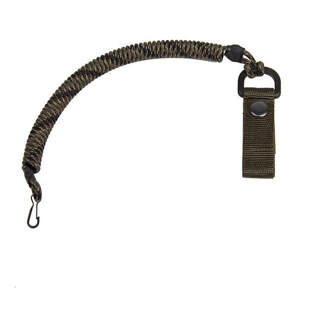 EDCX Страхувальний шнур із карабіном, та кріпленням на пояс FSC0003 Олива (Olive)