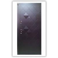 """Двери входные металлические с МДФ Steelguard™ модель «Luxor» 117 """"Венге"""""""