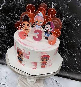 Тортик с популярными LOL. Топперы LOL на торт 1
