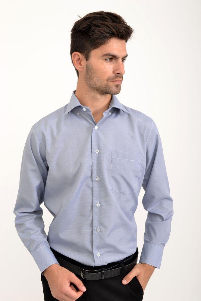 Рубашка 9021-29 цвет Сине-белый, клетка