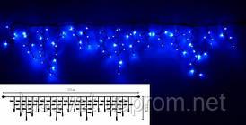 Гирлянда-бахрома LUMIERE Stalactite FLASH 2*0,5 EL205-76ВF синяя