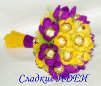 Изготовление Букетов из конфет Донецк