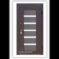Двери входные металлические с МДФ Steelguard™ модель Milano Венге темный 121
