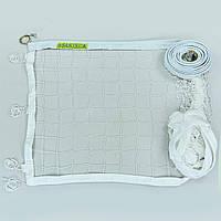 Сетка для волейбола Эконом10 Норма NEW SO-0945 (синтетический шнур 2,5мм, р-р 9,5x1м, ячейка 10x10см, метал. трос, белый)