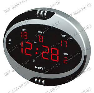 Настольные часы для дома Часы электронные VST-770 с будильником, календарем и термометром Отличный подарок!