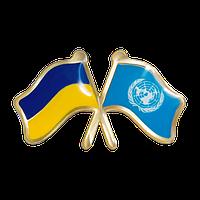 Значок Украина-ООН