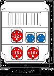 Штепсельный разветвитель ROS 11/х-14 /S, фото 2