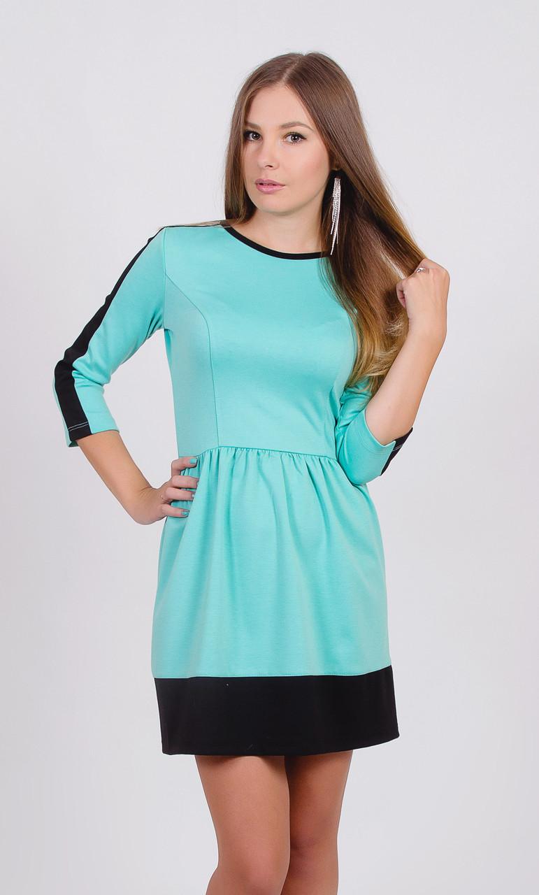 Платье короткое молодежное  мята