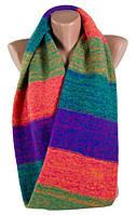 Разноцветный двухслойный шарф-снуд TRAUM (2482-05)
