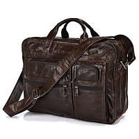 Большая кожаная сумка из винтажной кожи