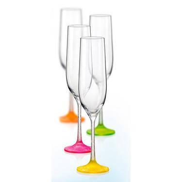 Фужеры для шампанского 190 мл 4 предмета Neon Ice 40729 D4896 190 Bohemia, фото 2