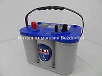 Гелевый акумулятор Оптима 55 Ач 765 А синий