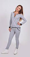 Спортивный костюм женский светло-серый, фото 1