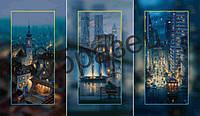 Триптих для вышивки бисером на полотне «Город»