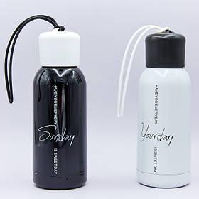 Бутылка для воды с резинкой спортивная Zelart 300ml DAYS OF THE WEEK FB-3716-1 (цвета в ассортименте, сталь)