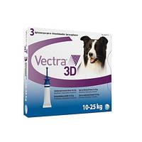 Вектра 3D - капли инсектоакарицидные для собак весом 10 – 25 кг (1пипетка)