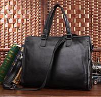 Модная кожаная сумка для мужчины