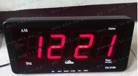 368e455ae301 Настенно-настольные Часы электронные Caixing CX 2159 + машинная зарядка  (LED индикация) XKC