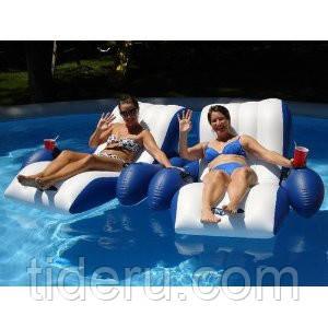 Кресло надувное Intex 58868 с подстаканником и спинкой