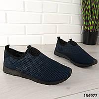 """Мокасины мужские, синие """"Wartine"""" текстильные, туфли мужские, повседневная, удобная, весенняя, мужская обувь"""