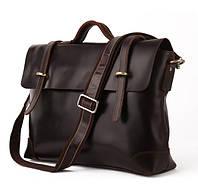 Кожаная сумка-портфель для документов