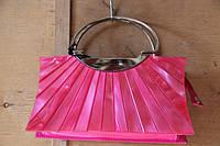 Сумка женская театральная выпускная маленькая розовая, фото 1