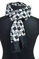 Мягкий серый кашемировый мужской шарф BRO