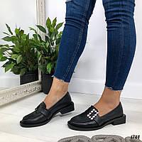 Женские туфли черные Pradine1744