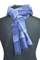 Мягкий синий кашемировый мужской шарф BRO
