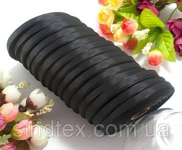 (15 рулонов) РЕПСОВАЯ лента ширина 0,6см (25 ярдов) Цена за блок, цвет - Чёрный (сп7нг-4245)