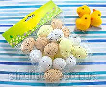 (17шт) Яйца из пенопласта 40х27мм, пасхальный декор Цвет - МИКС (сп7нг-2431)
