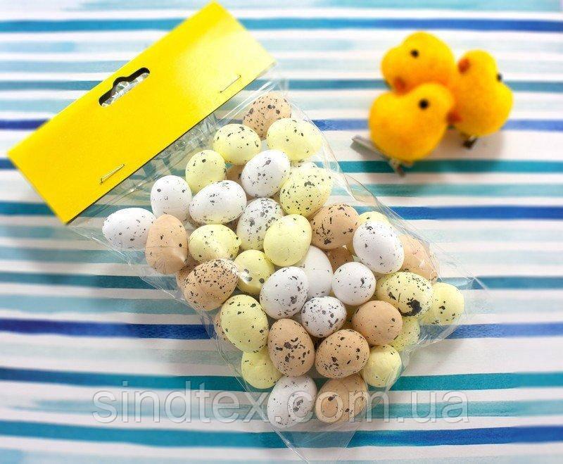 (50шт) Яйца из пенопласта 25х18мм, пасхальный декор Цвет - МИКС (сп7нг-2512)