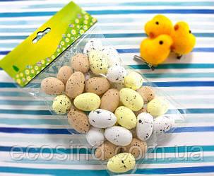 (36шт) Яйца из пенопласта 30х20мм, пасхальный декор Цвет - МИКС (сп7нг-4236)