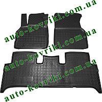 Резиновые коврики в салон Renault Scenic II 2003-2009 (Avto-Gumm) Автогум