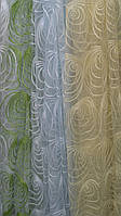 Органза с вышивкой, разные цвета, фото 1