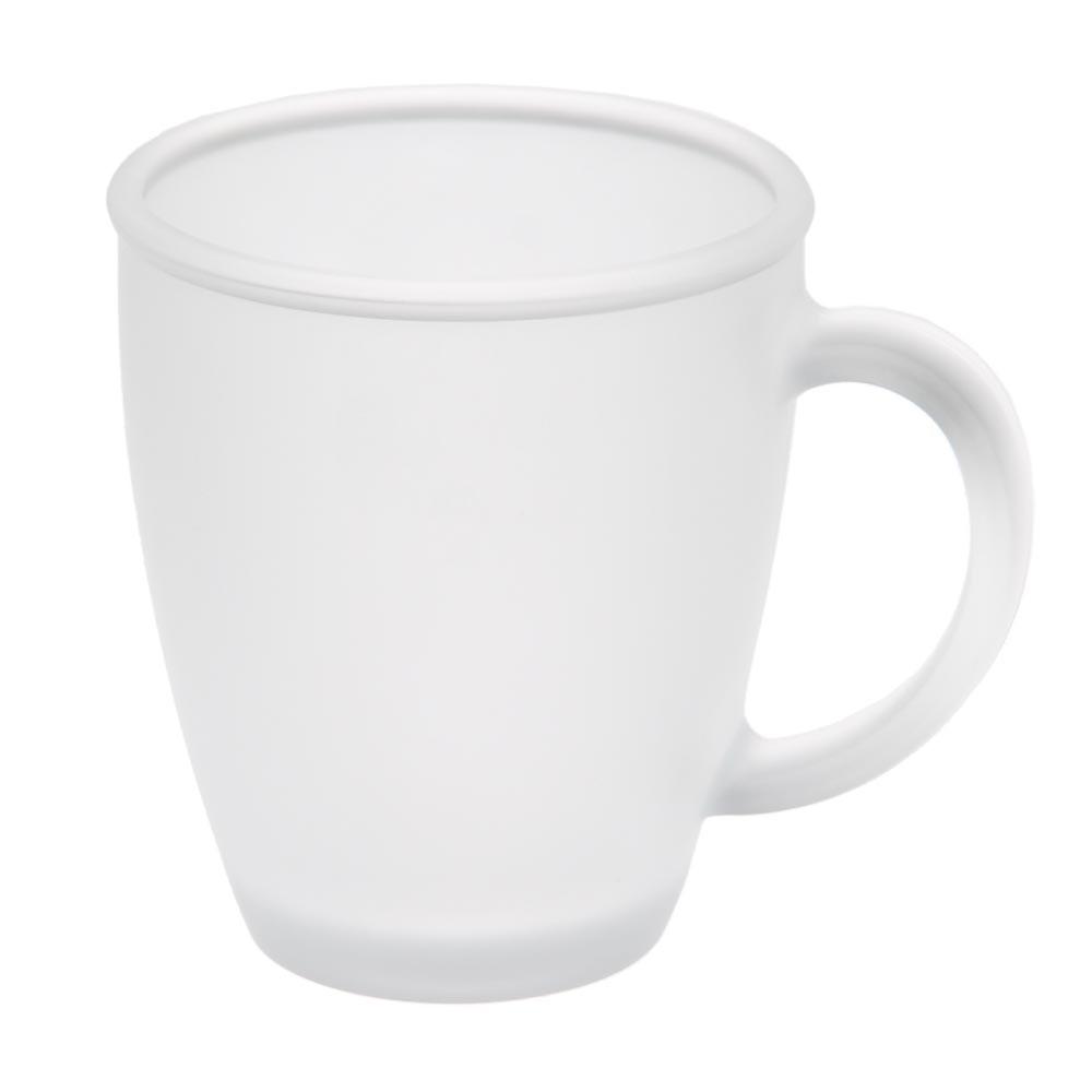 Чашка стеклянная матовая, 325мл, цвет Бесцветный