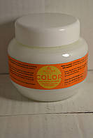 Маска для окрашенных волос Kallos Color Hair Mask с льняным маслом и ультрафиолетовым фильтром. 275г. Венгрия