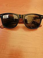 Универсальные солнцезащитные очки, черные с коричневой дужкой