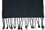 Легкий черный однотонный мужской шарф ROB, фото 3