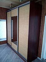 Шкаф-купе с ротанговыми плитами, фото 1