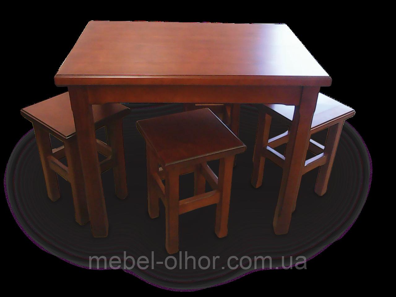 Стол кухонный деревянный (в белом цвете)