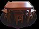 Стол кухонный деревянный белый (80/60), фото 2