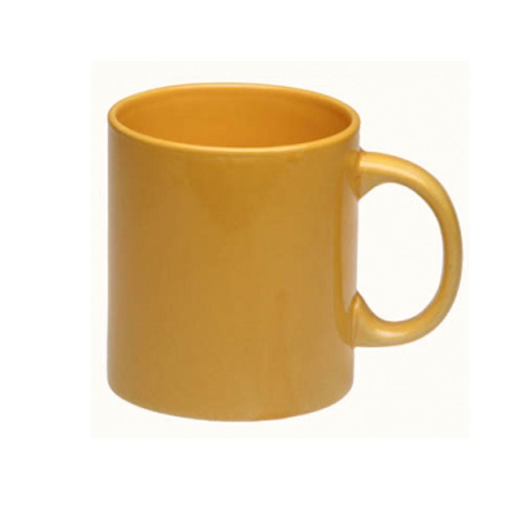 Чашка керамика 500мл желтая