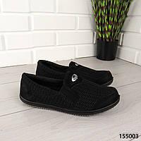 """Мокасины мужские, черные """"Anbaty"""" текстильные, туфли мужские, повседневная, удобная, весенняя, мужская обувь"""