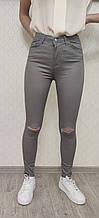 Цветные джинсы женские серый Arox 11.1