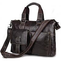 Кожаная деловая сумка  7264J