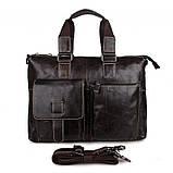 Шкіряна ділова сумка 7264J, фото 2