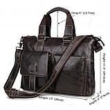 Шкіряна ділова сумка 7264J, фото 3