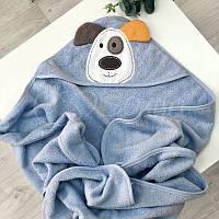 Полотенце-уголок Собачка, голубой
